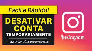 como desativar a conta temporariamente do instagram 1