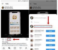 como repostar foto no feed do instagram