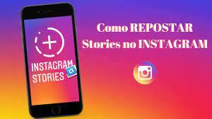 como repostar um story no instagram
